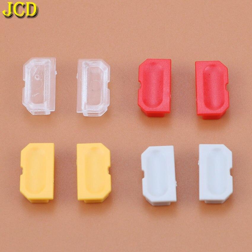 JCD 2 pièces 4 couleur housse anti-poussière pour jeu garçon GB Console de jeu coquille bouchon anti-poussière bouton en plastique pour DMG 001