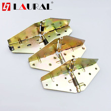 Folding Hinge Cross Spring Hinge Table Top Flip 180 Degree Folding Round Table Butterfly Hinge Hardware foldable lift up top coffee table lifting frame mechanism spring hinge hardware 1 pair coffee tables frame accessories home use