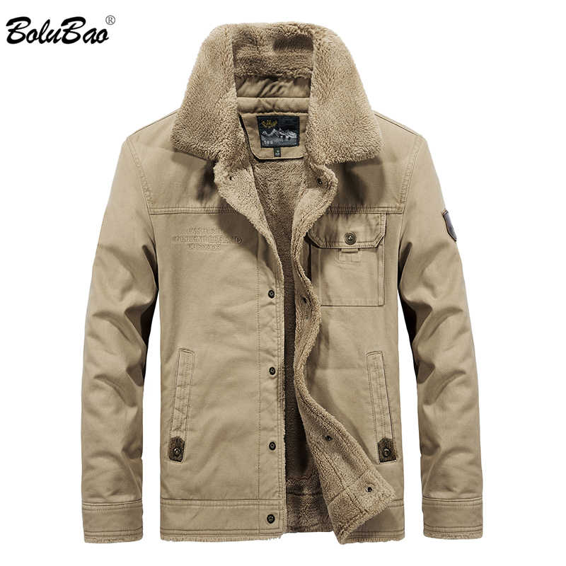 BOLUBAO Men Brand Bomber Jacket New Winter Men's Jackets Fleece Casual Tactical Outerwear Male Thick  Jackets Coats