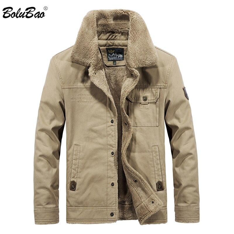 BOLUBAO Men Brand Bomber Jacket New Winter Men's Jackets Fleece Casual Tactical Outerwear Male Thick  Jackets Coats