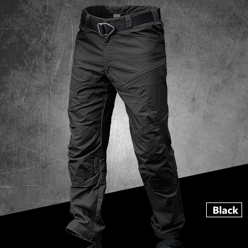 Dropshipping Tactical Pants Male Jogger Casual Cotton Trousers Multi Pocket Military Style Army Fans Men's Cargo Pants-in Cargo Pants from Men's Clothing    3