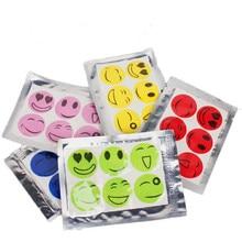 60pcs/ Set Citronella Oil Mosquito Killer Cartoon Repeller Sticker Smile Insect Mosquito Repellent Stickers Patches
