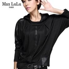 Max LuLu Luxury European Fashion Girls Casual Cropped Tops Tee Shirts Womens Hooded T-shirt Camisetas Mujer Woman Loose Tshirt