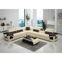 Beige dark and black fashion China KTV sex couch living room sofa reclining(China)