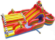 Style inflatable slide  0.55mmPVC  fun city playground цена 2017