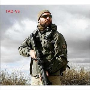Image 4 - באיכות גבוהה lurker כריש Soft Shell TAD V 5.0 Jacket טקטי הצבאי עמיד למים Windproof צבא מפציץ מעיל בגדים