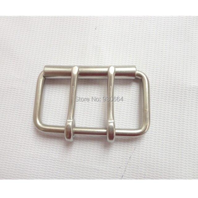 60mm En Acier Inoxydable Double Broches Boucle Boucle De Ceinture Avec  Rouleau Cuir Matériel Sac Boucle 9c4cecaae84