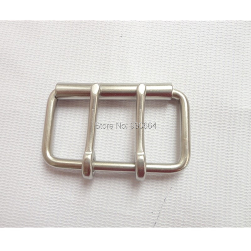 60mm Stainless Steel Double Pins Buckle Belt Buckle With Roller Leathercraft Hardware Bag Buckle Garment Accessories Bag Fastene