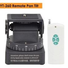Zifon YT-260 rf controle remoto rc motorizado pan tilt para câmeras fotográficas telefones celulares go pro sport camera sony com 1/4 polegada placa