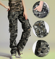 Women's camouflage pants woman cotton Multi Pocket Casual loose female baggy Cargo Pants Military Plus Size Trousers