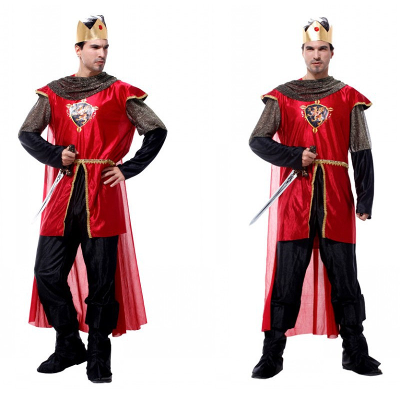 Men European Crusaders Knight Swordsman Guards Cosplay Halloween Prince King Costumes Role play Festival parade Carnival dress морган райс knight heir prince