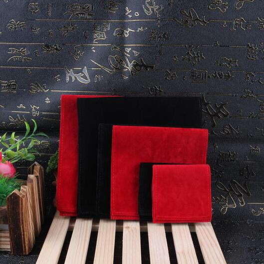 10pcs/lot New 6x6, 10x10, 13x13cm Square Folding Cover Envelope Design Double Sided Velvet Bags For Jewellery Pouches Gift Bag