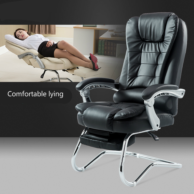 Купить с кэшбэком Arched Computer Chair Reclining Office Chair Comfortable Massage Meeting Chair Household Multifunctional Seat Adjust Handrail