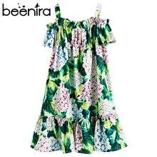 Beenira kızlar yaz elbisesi 2020 yeni avrupa ve amerikan tarzı çocuk çiçek desen kolsuz Dresses4 14Y çocuk sevimli elbise