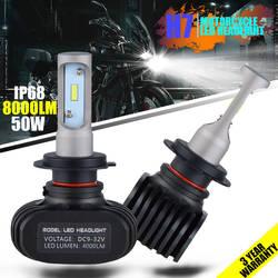 Nicecnc один луч H7 светодиодные лампы 12 В 24 В водить авто фар Туман свет лампы 50 Вт 6000 К 8000Lm автомобиль-Стайлинг csp чипы plug & play