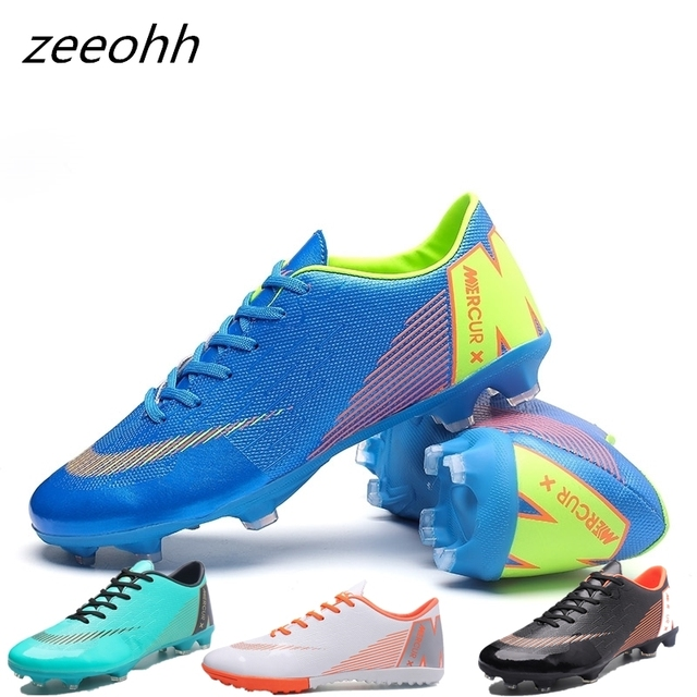 82f6e3de US $14.56 44% OFF|zeeohh Men's Outdoor Soccer Cleats Shoes High Top TF/FG  Football Boots Training Sports Sneakers Students Shoes Original Cleats-in  ...
