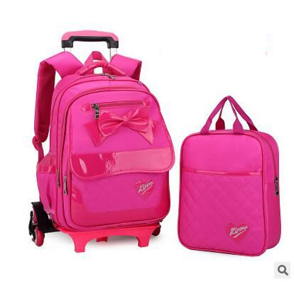 kid School Rolling backpack for girl Children luggage bags Trolley School backpack wheeled backpack kids Trolley bag On wheels коюз топаз кольцо т902015733