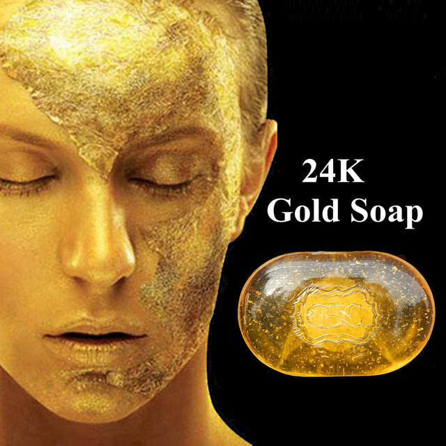 Revitalizing Repairing Beauty 24K Gold Facial Cleaning Soap For Face Care Whitening Skin 120g