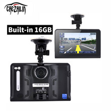 7 inch GPS Navigation Android GPS DVR Camcorder Allwinner A33 Quad Core CPU Radar Detector 8GB/16GB  Free Map