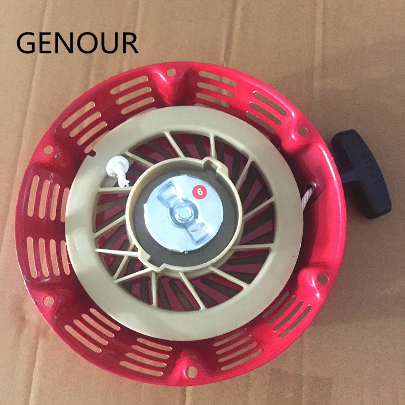 13HP 188F GX390 Recoil Starter Assembly,15HP 190F GX420 Gasoline Generator Recoil Starter assembly METAL CORE цена 2017