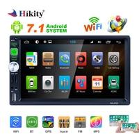 Hikity 2 din Android gps автомобильное радио 7 HD IOS/Android зеркальная ссылка Автомобильный MP5 плеер с Wi Fi fm радио поддержка DVR и резервная камера