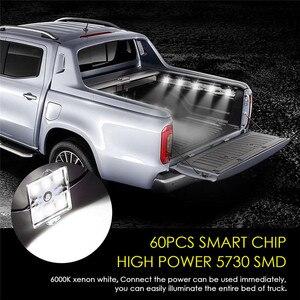 Image 5 - Luz Interior para caravana, lámpara de techo para coche y furgoneta, 60 LED, 12V, 5730 SMD, bajo consumo, alto brillo, para remolque, barco, #292140