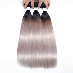 Предварительно Цветной прямые человеческие волосы бразильский Связки Реми OT Прохладный серебристый серый волос 10-20 дюймов Связки Weave волос