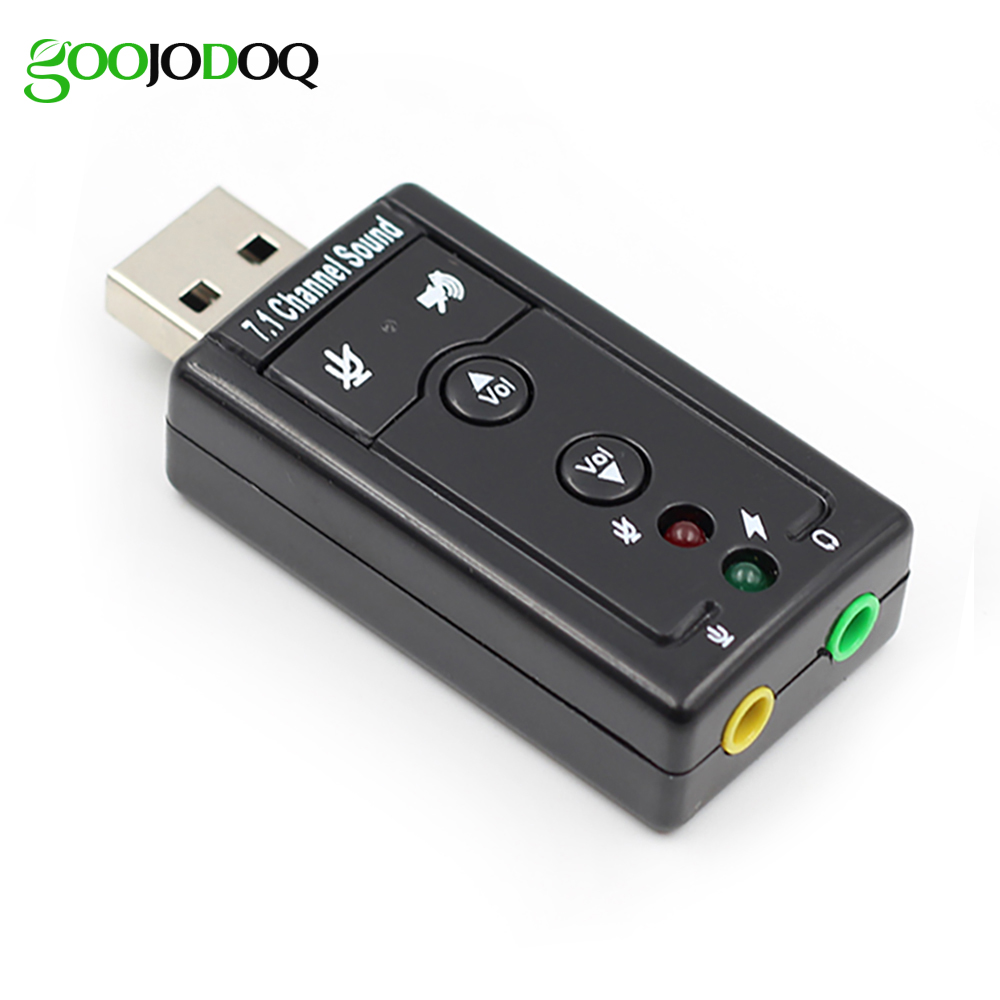 7.1 Channel External USB Sound Card USB to Jack 3.5mm Headphone Adapter Audio Mic Sound Card For Mac Win XP 7 8 Android Linux usb 2 0 7 1ch stereo sound card adapter white