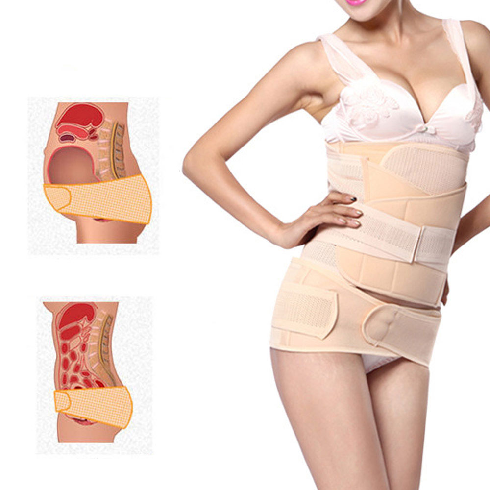 Belly Bands & Support Lingerie & Underwear L Postpartum Girdle Breathable Abdominal Pelvis Waistband Adjustable Recovery Wrap Belt Corset for Women Slimming