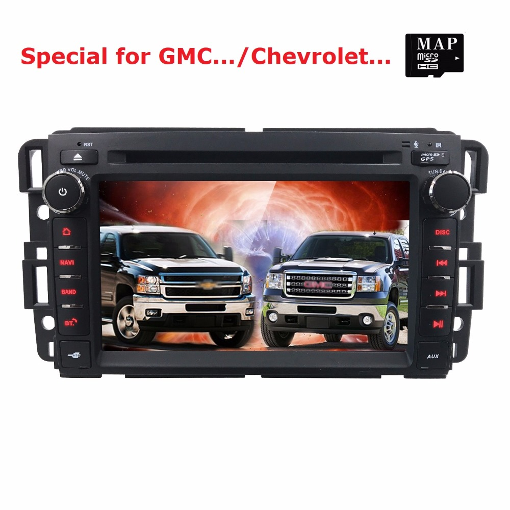 7 Wince Car Stereo DVD Player GPS Navi for GMC Yukon Acadia Chevy 2007-2012 Double Din In Dash Touchscreen FM/AM Radio Receiver