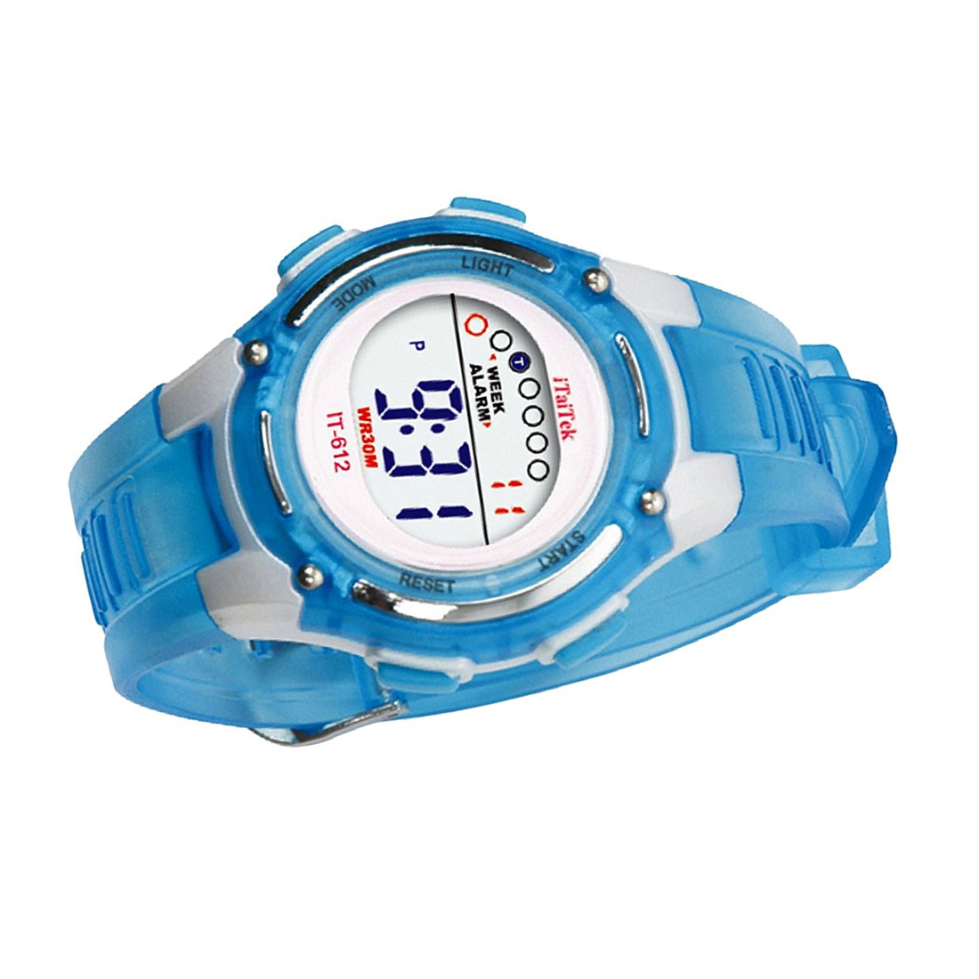 ITaiTek Kids Swimming Digital Sports Waterproof Wrist Watch (Green)