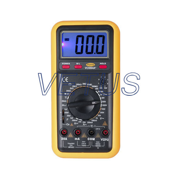 VC9803A+ Full Protection Digital Multimeter with Thermometer vc201vc202vc203 pocket digital multimeter full protection of digital multimeter