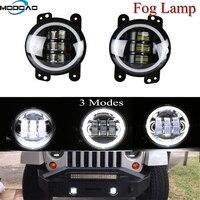 2 Pcs Super bright SUV Fog Lamps 30W LED SUV Fog Lights Angel Eye Fog Lights 6000K Car Lights 4 inch