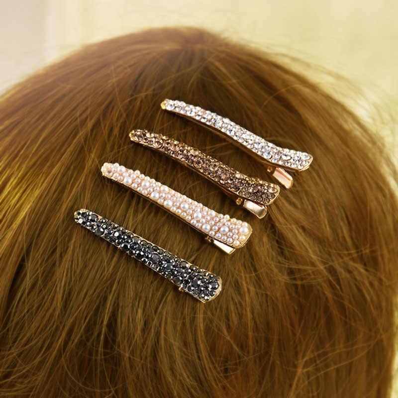 Accesorios de herramientas de estilo Barrette con pasadores de diamantes de imitación para mujer