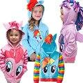 Alta Calidad Cosplay My Little Pony Pony Traje de Sudaderas Con Capucha Para Niñas Otoño Invierno Suéter Con Capucha Niños Ropa de Fiesta de Navidad