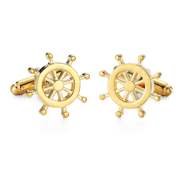 High Men's Cufflinks Plane Anchor Bike Car Motorcycle Tractor