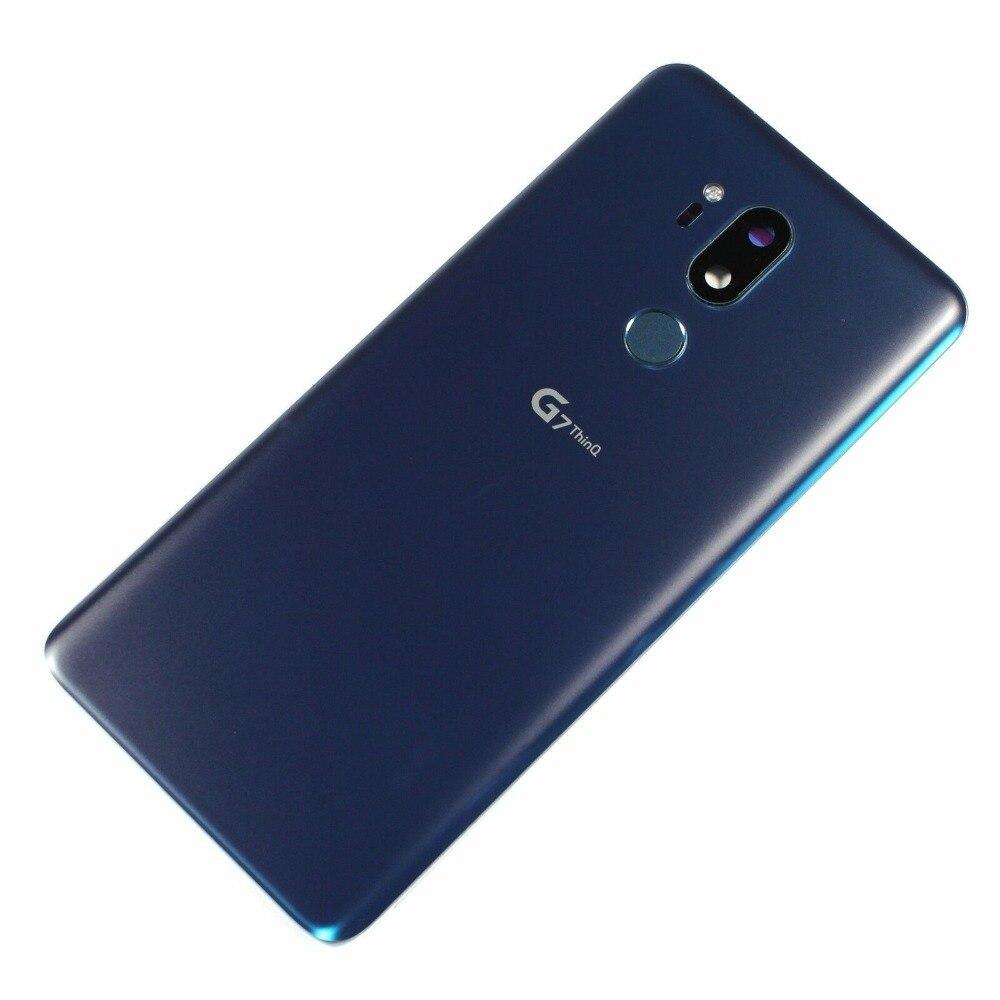 For LG G7 ThinQ G710 G710EM Battery Back Case Door Glass Housing + Camera Lens Cover Fingerprint