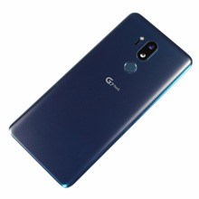 Для LG G7 ThinQ G710 G710EM чехол на заднюю панель со стеклянным корпусом+ крышка объектива камеры с отпечатком пальца