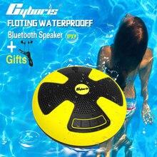 CYBORIS IPX7 Dual 5W Swimming Speaker Pool Floating Bluetooth Speakers Wireless Waterproof stereo use for Outdoor Bathroom