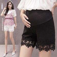 Летняя одежда для беременных женщин, штаны безопасности, леггинсы, кружевные лоскутные элегантные шорты для беременных