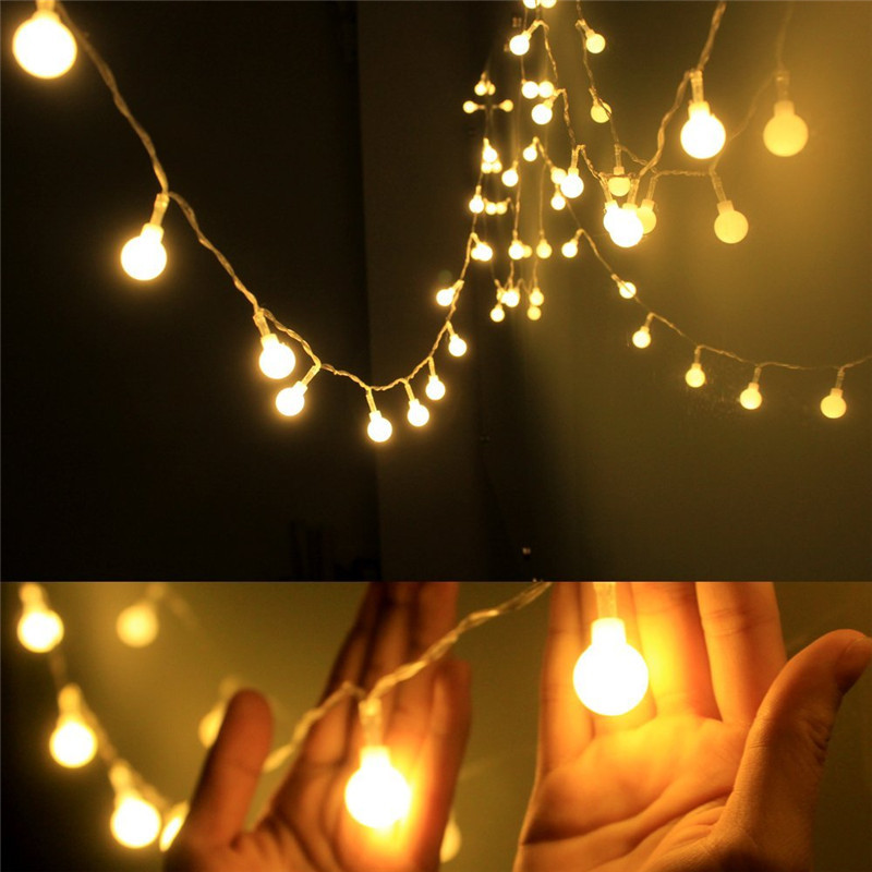 New 1.5M 3M 6M Garland Fairy LED Ball String Lights Waterproof For Christmas Tree Wedding Home Indoor Decoration Battery Powered(China)