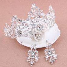 1 Unidades Grande de Lujo de La Vendimia Elegante Cristalina Clara Corona Tiara de La Boda Joyería Del Pelo de la Venda Nupcial de La Novia de dama de Honor de Baile
