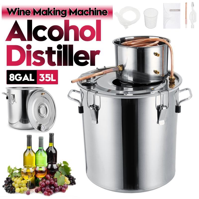 8GAL/35L distillateur alcool Moonshine acier inoxydable cuivre bricolage maison eau vin huile essentielle Kit de brassage
