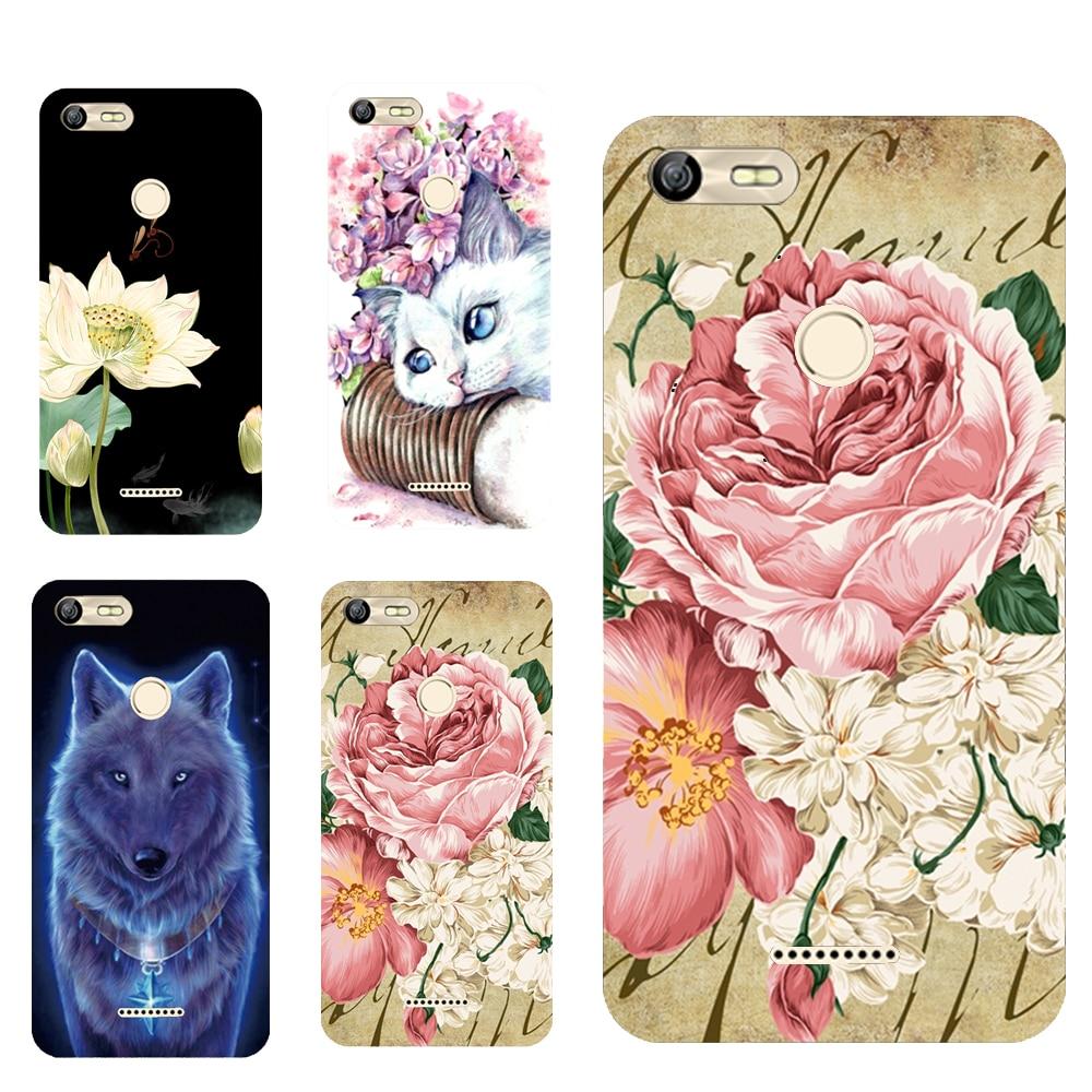 For BQ 5204 Floral Sleepy Darling Baby Cat Animal Case For BQ-5204 Strike Selfie Back Cover Bag TPU Cases