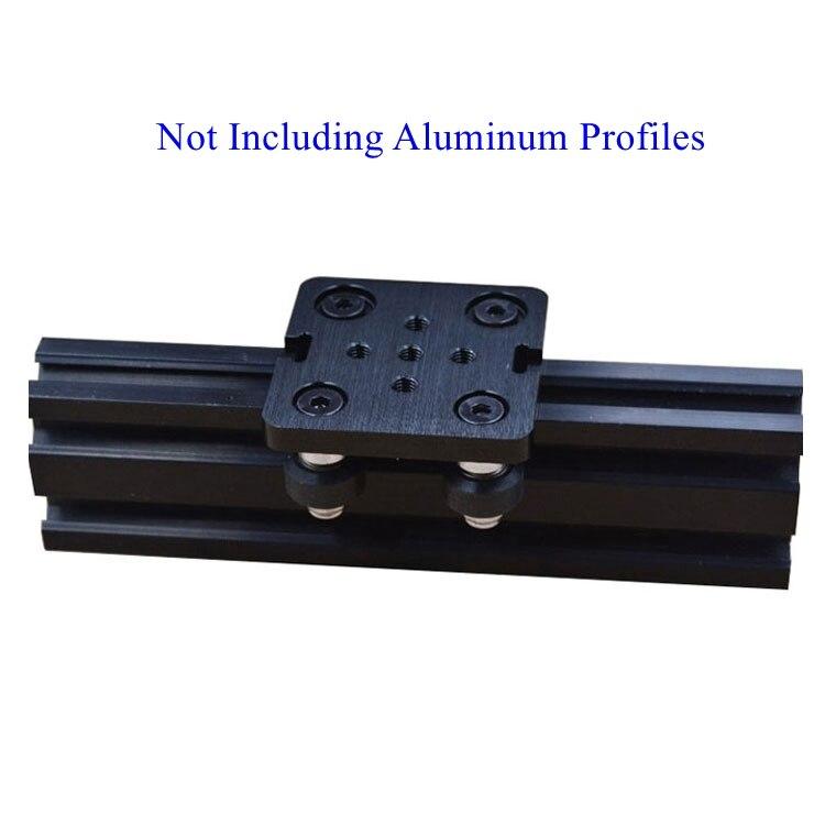 цена на 1sets T6x50x50mm Openbuilds Mini V Gantry Set V Gantry plate for 3D Printer V-slot Mini V Linear Actuator System
