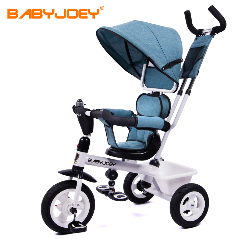 Hot EU Babyjoey children's tricycles, bicycles, baby, 1-3-5 years old baby stroller, two-way push free ride