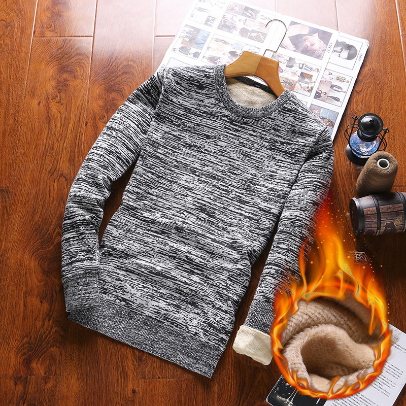 Pullovers 2019 O-Neck Men's Sweater Thick  Cotton Sweaters For Homme Long Sleeve Pullovers Men Autumn Hot Sale Solid Sweater's