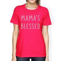 Mama Gesegnet frauen Heißen Trendy Design T-shirt für Neue Mütter Günstige Großhandel Dame T-Shirts Frauen Neuheit Tops Tees
