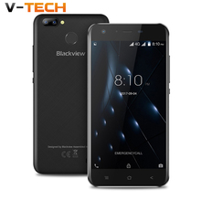 """Blackview A7 Pro Mobile téléphone Android 7.0 Quad core 5.0 """"HD 4G smartphone 2 GB + 16 GB Double Arrière Caméra GPS Cellulaires D'empreintes Digitales téléphone"""