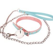 Adjustable PU Leather Bdsm Collar Slave Restraints Bondage Bell Choker Necklace Adult Games Harness Sex Toys for Women Couples